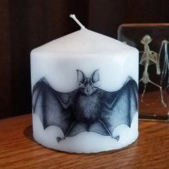 Candle-Pillar-Gothic-Bat-Horror-Decor