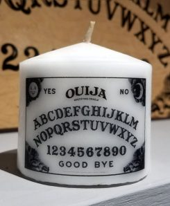 Candle-Small-Yellow-Black-White-Ouija-Board
