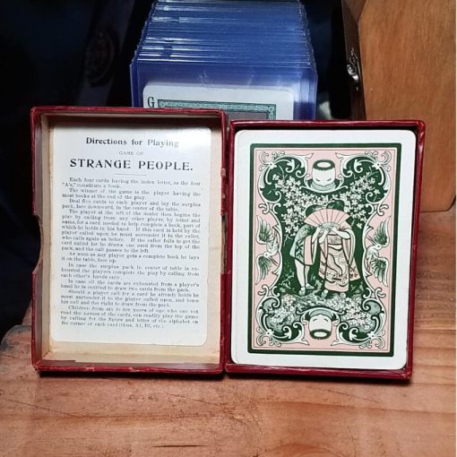 Strange weird card game vintage Strange People Card Game Antique