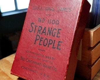 Strange weird card game vintage Strange People Card Game Antique