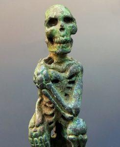 Pewter Skeleton Sculpture Skeleton Bead