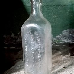 Antique Embalming Fluid Bottle Formaldehyde Vintage Bottle Durfree
