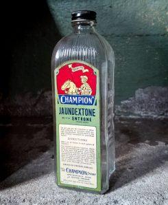 Antique Embalming Fluid Bottle. Champion Formaldehyde Jaundextone, Vintage Medical