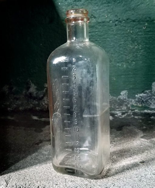 Vintage Medical Antique Embalming Fluid Bottle Foraldehyde Eckels Embalming Bottle