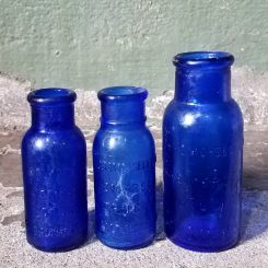 Cobalt Blue Medical Bottles Vintage Bottles Vintage Medical