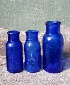 Cobalt Blue Medical Bottles Vintage Bottles Vintage Medical