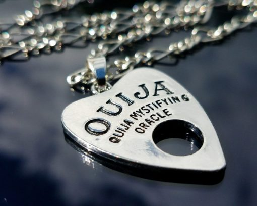 Ouija Board Necklace, Planchette Pendant, Gothic Jewelry, Occult Items
