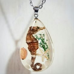 Sea Life Jewelry, Real Seahorse Necklace, Ocean Jewelry Necklace