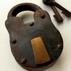 Antique Lock Reproduction Vintage Pad Lock