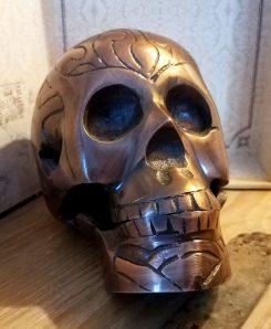 Metal Skull Home Decor Quality Halloween Decoration Brass