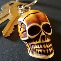 Resin Skull Keychain