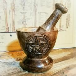 Wood-Pentagram-Mortar-Pestle-Occult-Items