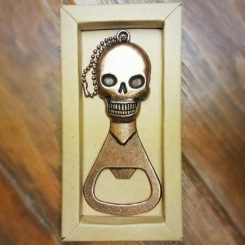 Brass Skull Bottle Opener, Skull Gifts