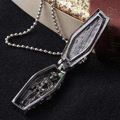Coffin Locket, Coffin Necklace, Gothic Jewelry