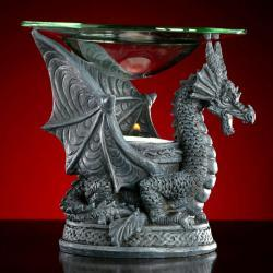 Dragon Oil Warmer, Gothic Decor, Dragon Incense