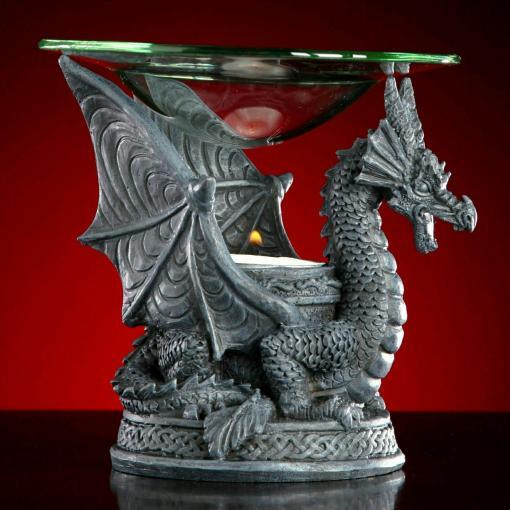 Dragon Oil Warmer, Gothic Decor, Dragon Incense