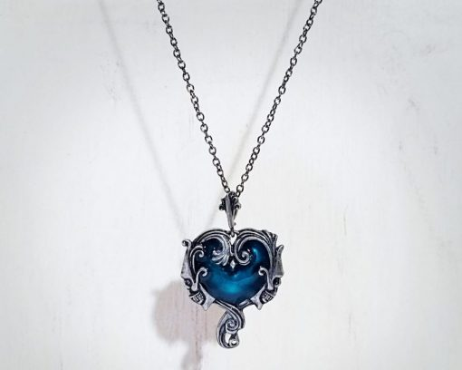 Gothic Skull Jewelry, Gothic Heart Double Skull