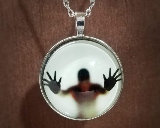 Gothic Jewelry, Creepy Necklace Glow in the Dark