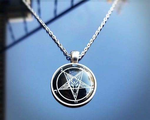 Occult Jewelry, Baphomet, Satanic Necklace