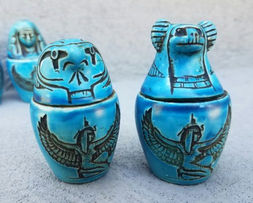 Canopic Jars, Egyptian Embalming Jars. Funeral Stuff Oddities, Curiosities