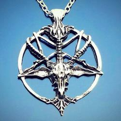 Baphomet Necklace, Occult Items, Pentagram Necklace
