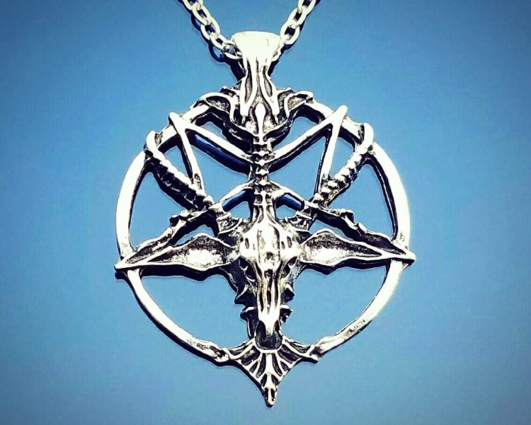 Baphomet Necklace, Occult Items, Pentagram Necklace