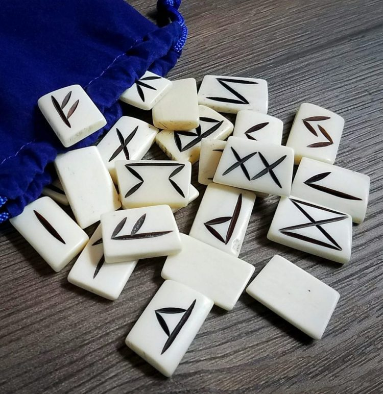 Real Bone Rune Set, Occult Items For Sale