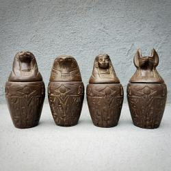 Real Canopic Jars, Oddities, Embalming, Anubis Statue