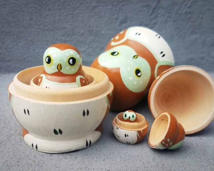 Owl Nesting Dolls, Owl Russian Doll