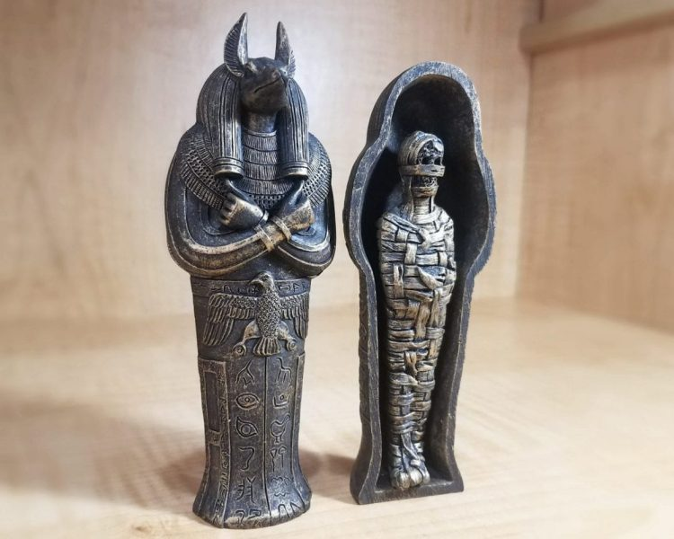 Anubis Coffin with Mummy, Creepy Egyptian