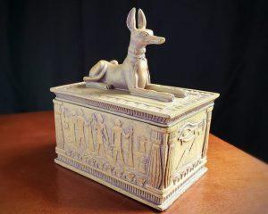 Ancient Egyptian Anubis Jewelry Box