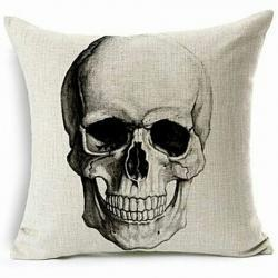 Skull Pillow, Gothic Decor, Horror Decor