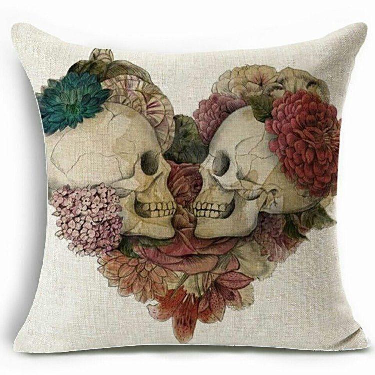 Skull Pillow, Gothic Decor, Horror Decor