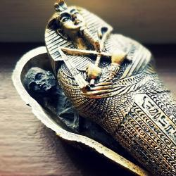 Egyptian coffin with mummy, Creepy Oddities