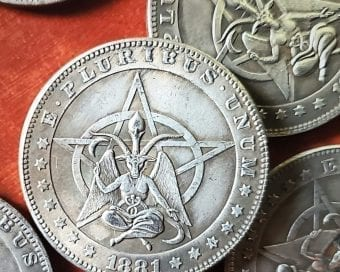 Baphomet Coin, Satanic Coin, Occult Items