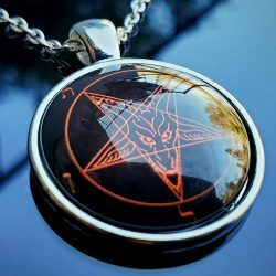 Baphomet Pendant, Satanic Necklace, Occult Items