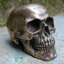 Bronze Skull, Gothic Decor, Oddities