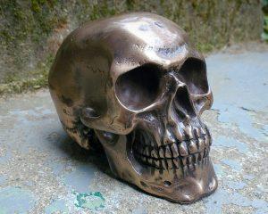 Bronze Skull, Gothic Decor, Oddities
