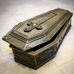 Coffin Jewelry Box. Trinket Box, Casket, Gothic Jewelry