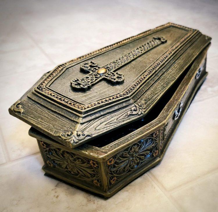 Coffin Jewelry Box. Trinket Box, Casket, Gothic Jewelry