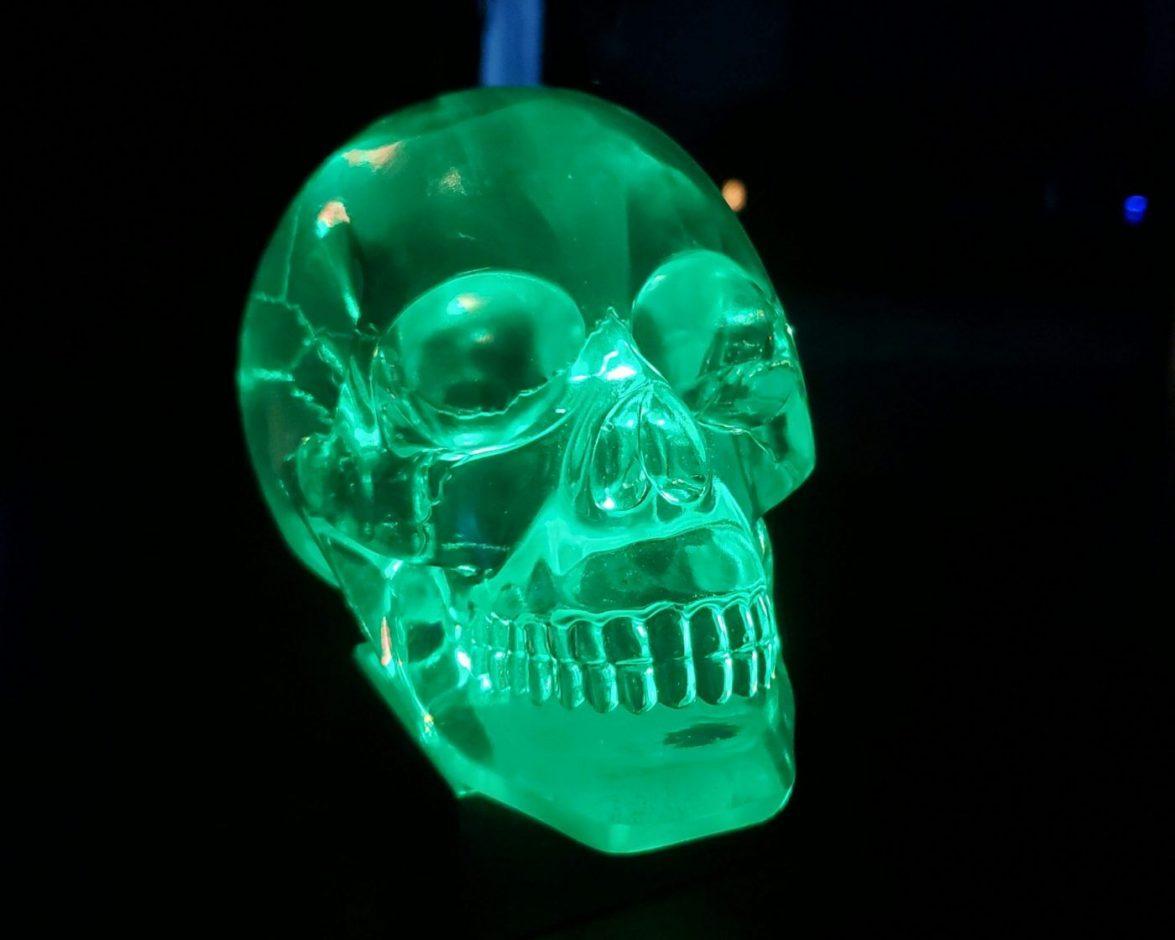 "1 Pcs Details about  /Auzunuti Acrylic Resin Skull Bead White Human Skull 1.4"" 36mm"
