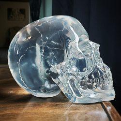 Crystal Skull, Translucent Skull, Oddities, Curiosities