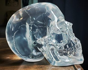 Crystal Skull, Translucent Skull, Oddities, Curiosities