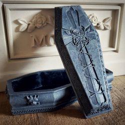 Gargoyle Coffin, Coffin Jewelry Box, Gothic Decor