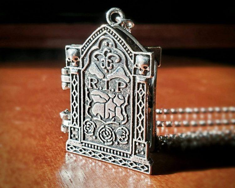 R.I.P. Locket, Tomb Stone Locket, Gothic Jewelry