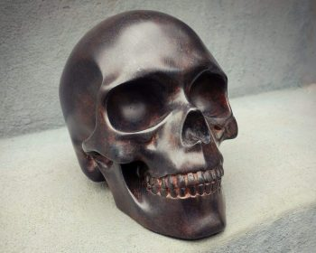 Iron Skull Rusted, Human Skull Metal
