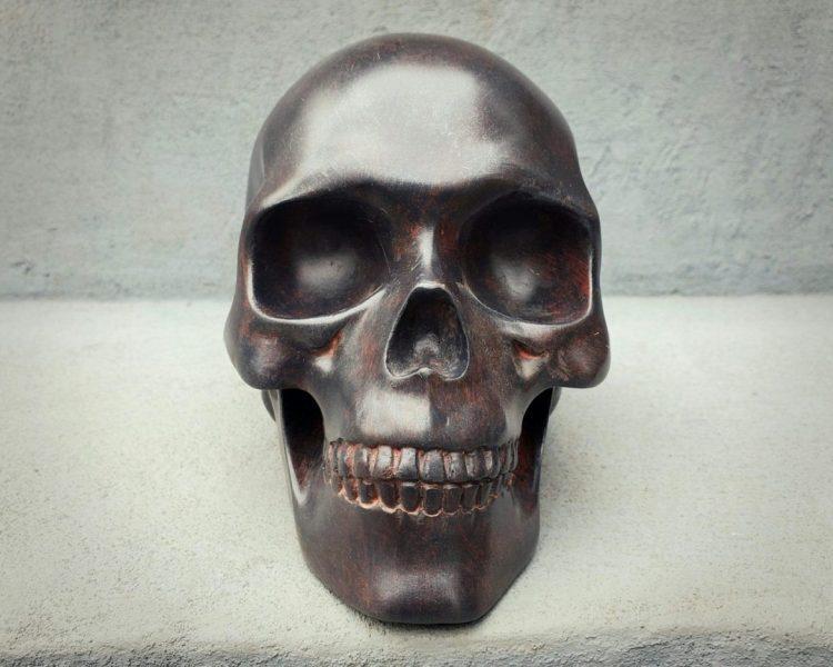 Iron Skull Rusted, Human Skull Metal