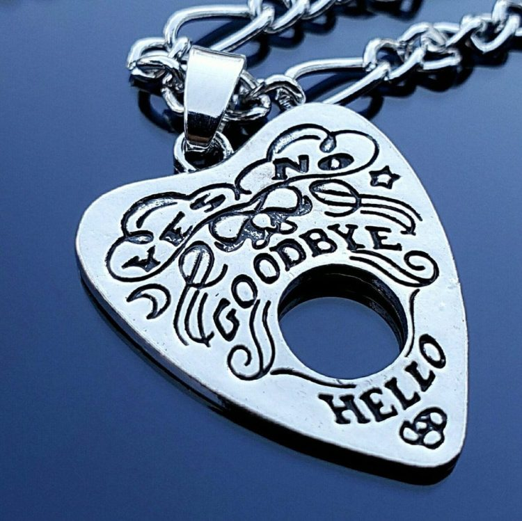 Ouija Necklace, Planchette Pendant, Gothic Jewelry