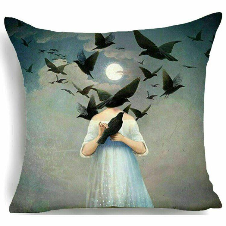 Gothic Throw Pillow, Abstract Throw Pillow, Gothic Decor