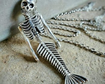 Fiji Mermaid Necklace, Gothic Jewelry